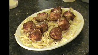 Fettuccine Alfredo With Blackened Scallops Italian Recipe