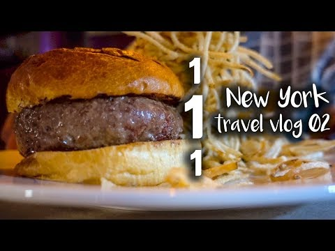 [US Travel Vlog] Jay Z's hamburger restaurant! Look how thick it is!