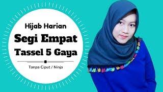 Segi Empat Tassel 5 Gaya Untuk Sehari Hari Tanpa Ciput Ninja Nmy Hijab Tutorials Youtube