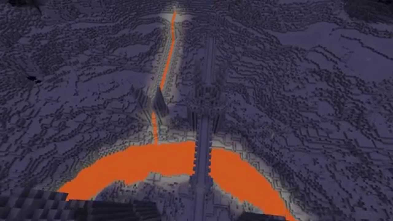 Minecraft Tower of Barad Dûr The Eye of Sauron YouTube