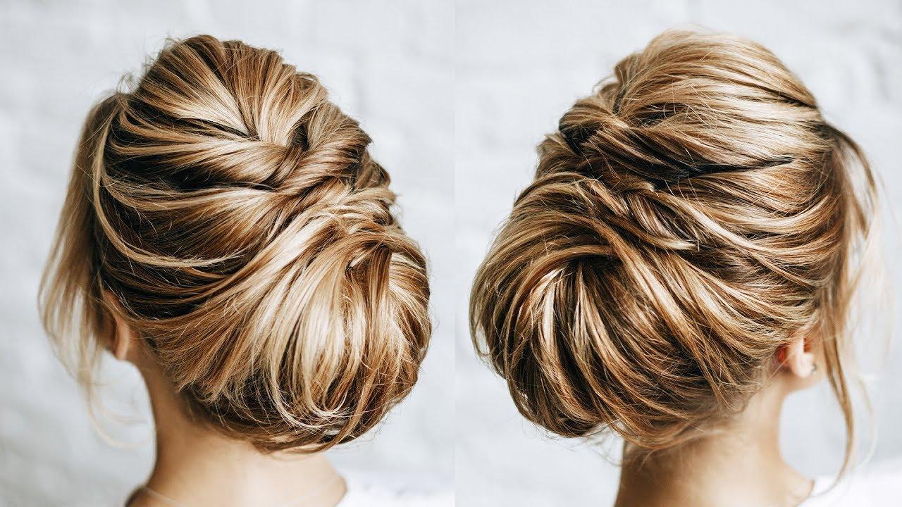 short hair messy bun | short bob hairstyles
