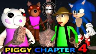 PIGGY CHAPTER 4 vs BALDI & SIREN HEAD! ROBLOX SPEEDRUNNER CHALLENGE SONIC horror Minecraft Animation