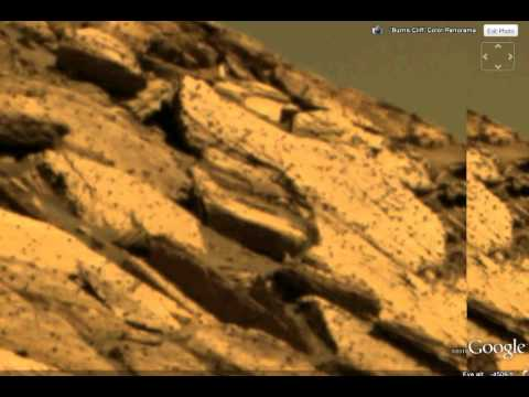 Mars rover finds boat high on side of cliff - YouTube