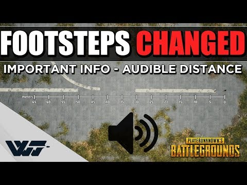 TEST: Footstep sounds HAVE CHANGED - Important info on audible range! - PUBG