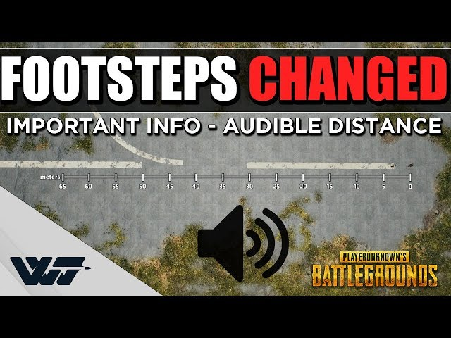 PUBG footsteps are louder now, and being barefoot might not