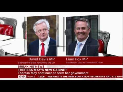 Theresa May new Cabinet BBC Summary