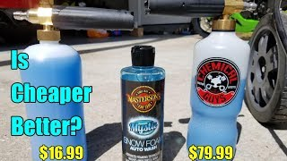 Chemical Guys Torq Foam Cannon VS Amazon Foam Cannon Comparison!
