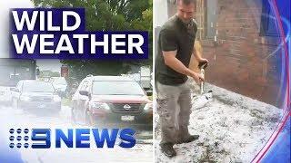 Major damage caused by torrential rain across Melbourne | Nine News Australia