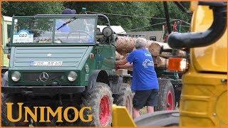 Holzrücken und Laden mit Unimog, Uniknick und MB-trac | 25 Jahre UCG