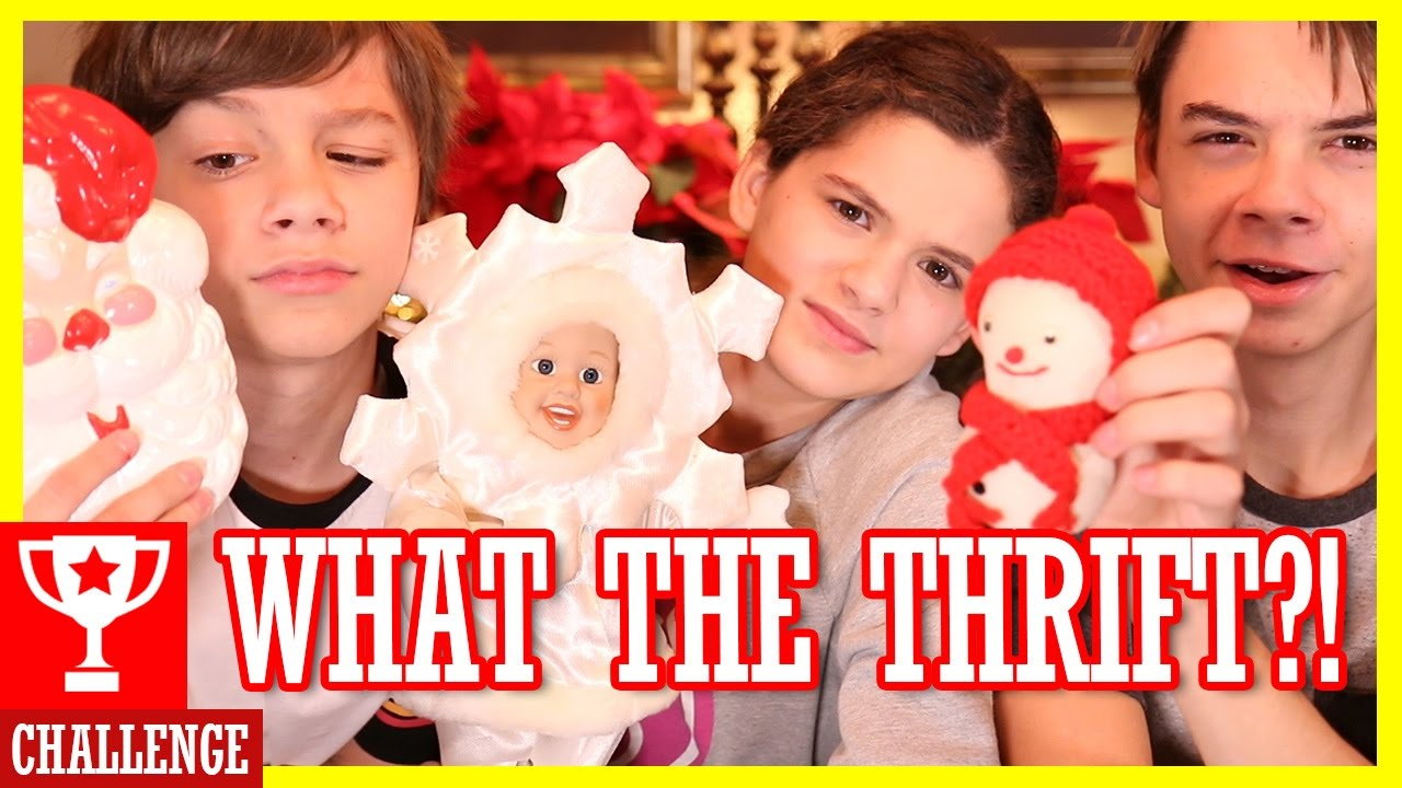 WHAT THE THRIFT CHRISTMAS CHALLENGE! | KITTIESMAMA - YouTube