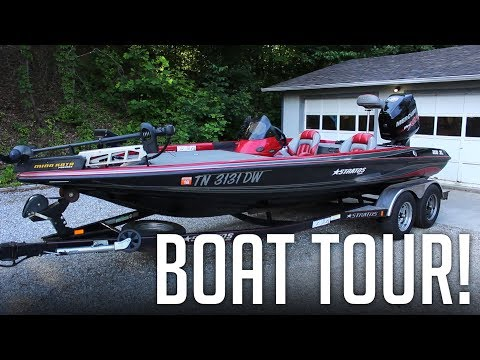 My Boat Tour And How I Set It Up! || 2007 Stratos 200XL Bass Boat Walk-through