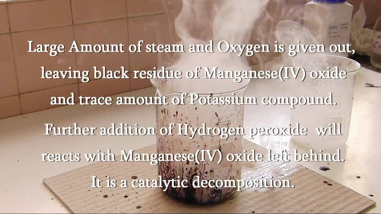 How to Make oxygen from permanganate and hydrogen peroxide « Science
