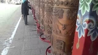 タール寺のマニ車 (塔爾寺・クンブム寺・Kumbum Monastery)