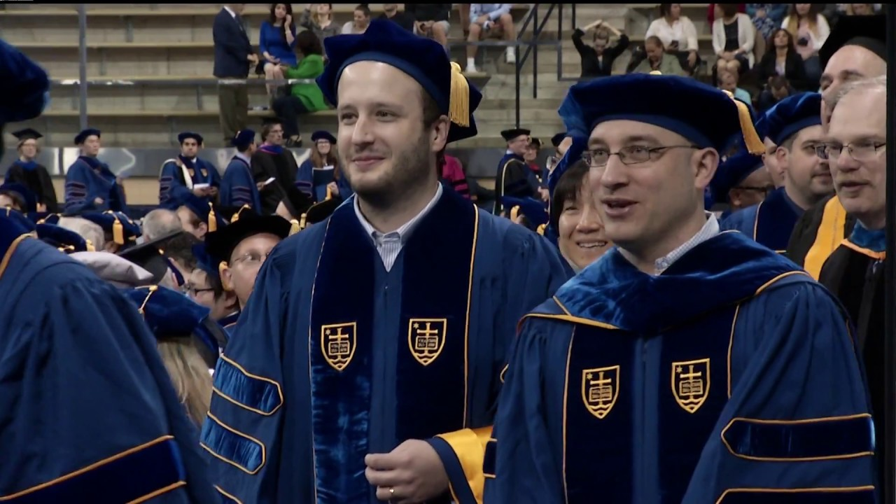 Notre Dame Graduate School >> 2018 Notre Dame Graduate School Commencement Ceremony And Conferring Of Degrees