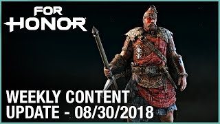 For Honor: Week 8/30/2018 | Weekly Content Update | Ubisoft [NA]