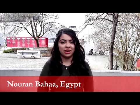 Nouran Bahaa, student from Egypt at the University of Ljubljana