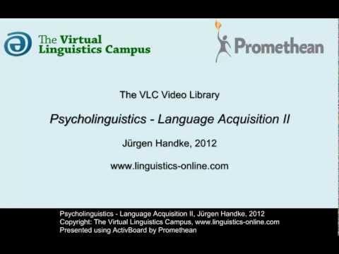 PSY122 - Language Acquisition II