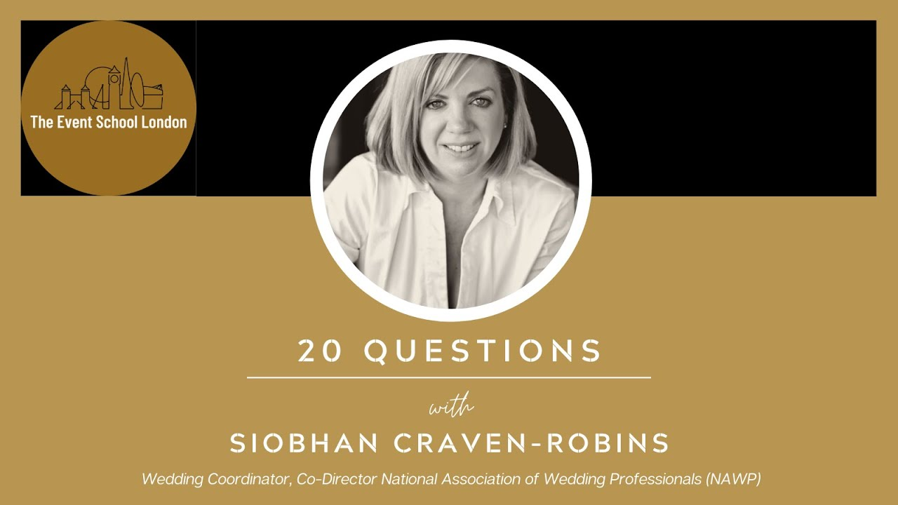 20 Questions with Siobhan Craven-Robins, Director, National Association of Wedding Professionals