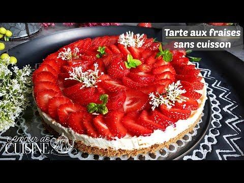 tarte-aux-fraises-sans-cuisson,-un-goûter-express,-rapide-et-facile