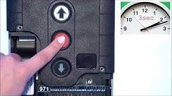 GFA TS 971: Endlagen einlernen, Totmann- und Automatikmodus