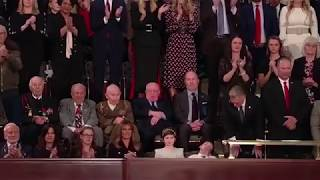 Joshua Trump spotted sleeping at the State of the Union Address