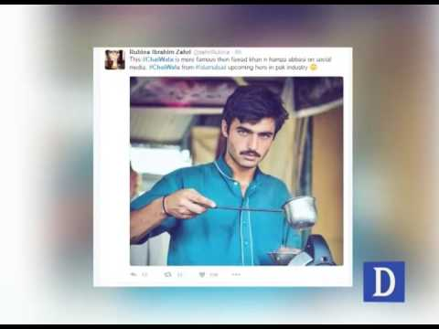 Chai Wala Famous on Social Media : Blue-eyed Pakistani 'chai wala'Peshawar Chowk