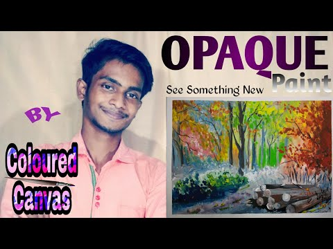 Learn Something New | Opaque colour forest painting By COLOURED CANVAS ||
