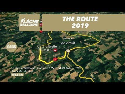 The Route / Le Parcours – Men/ Hommes – La Flèche Wallonne 2019