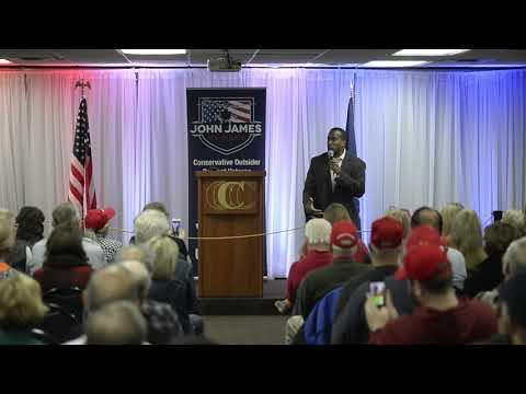 Lara Trump speaks at rally for John James
