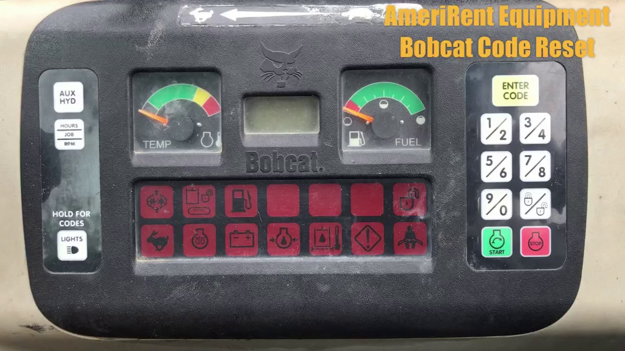 Bobcat Equipment Code Reset Change