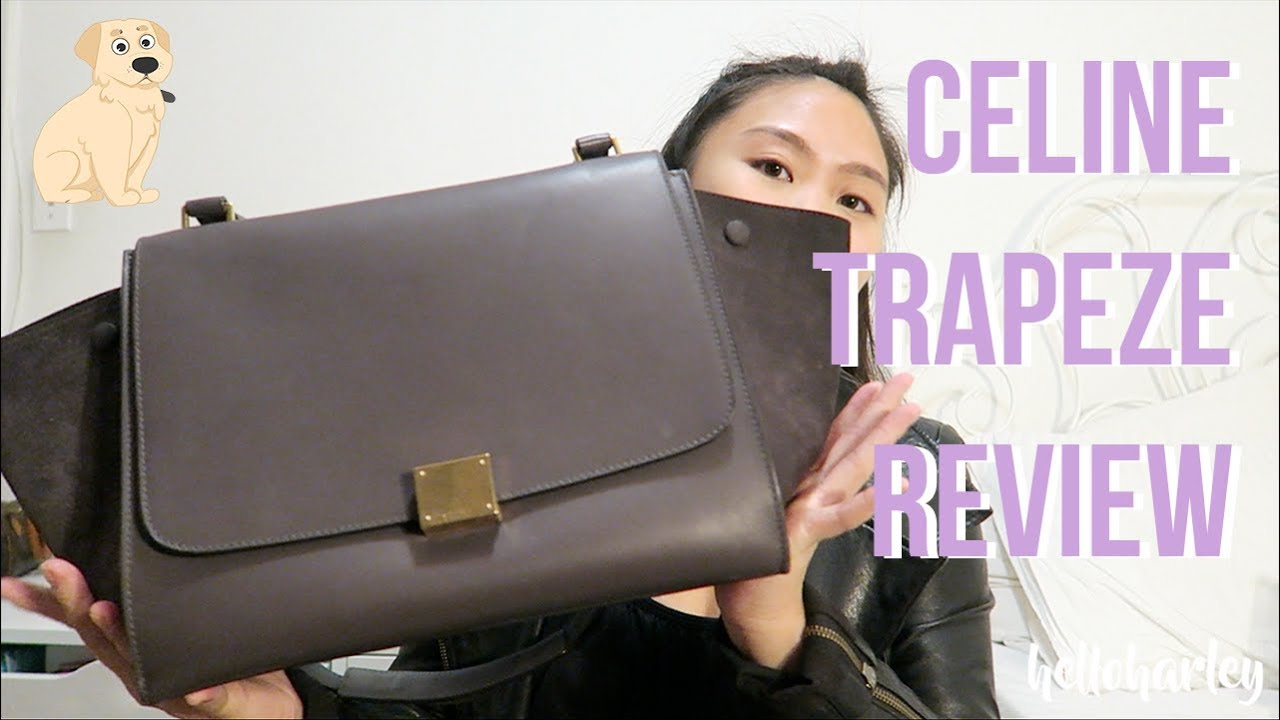 b0e3ec6d15 CELINE MEDIUM TRAPEZE REVIEW - YouTube