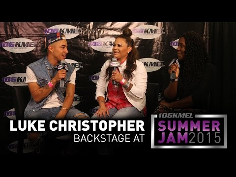 Luke Christopher Backstage at Summer Jam 2015