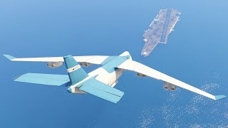 GTA 5 - LANDING A CARGO PLANE ON THE AIRCRAFT CARRIER (GTA 5 Funny Moment)