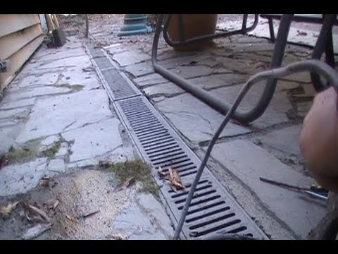 Adding Sump Pump To Channel Drain For Better Dranage