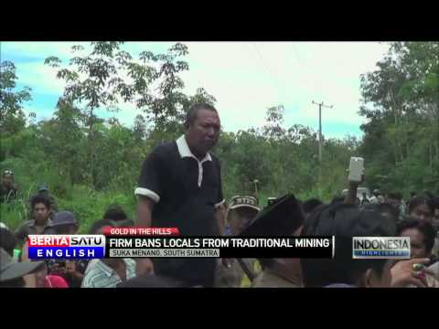 South Sumatra Miners Protest Mining Ban By Minerals Company