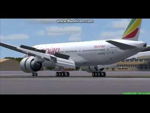 Ethiopian Airlines B777-200 Kotoka International Airport DGAA Landing FS9