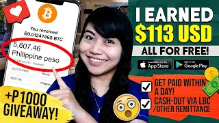 EARN P5603 [$113] FREE! MOBILE APP! Cash-out Process: GET PAID IN 1 DAY | P1000 GIVEAWAY: JOIN NOW!