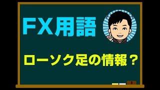 FX用語:ローソク足(陽線・陽線)の始値、高値、安値、終値とは…