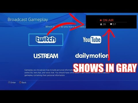 PS4 On Air Light Gray Not Red When Streaming To Twitch