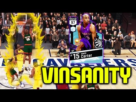DIAMOND VINCE CARTER GAMEPLAY! VINSANITY! NBA 2K17 MYTEAM ONLINE