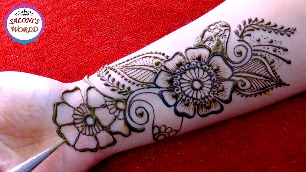 Full Hand Mehendi Simple Floral Arabic Henna Mehndi Designs