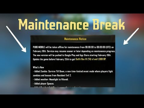 PUBG MOBILE 0.11 UPDATE MAINTENANCE NOTICE EXPLAINED