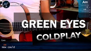 "Cómo tocar ""Green Eyes"" de Coldplay en Guitarra Acústica (HD) Tutorial - Christianvib"