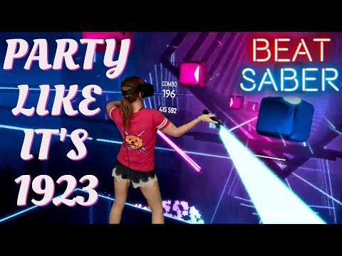 Beat Saber || Party Like It's 1923 (Expert) First Attempt || Mixed Reality