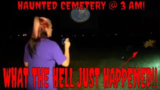 CREEPY CEMETERY AT 3 AM! **SOMETHING MOVES**!!