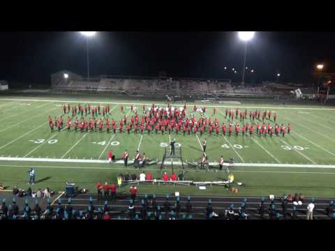 Canfield High School Cardinal Pride Marching Band Halftime Show - Canfield vs Kenston 9.9.16