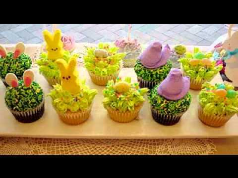 Decorating ideas for easter cupcakes - YouTube