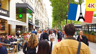 ⁴ᴷ Paris walking tour 🇫🇷 Champs Élysées and beauty shops 💅💄 France 4K