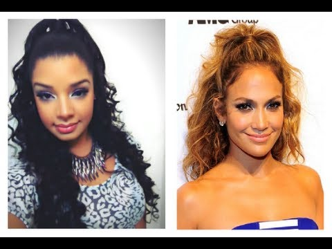 Jennifer Lopez Inspired Hair Tutorial : Half Up / Down Hairstyle : Remington Wand Curls