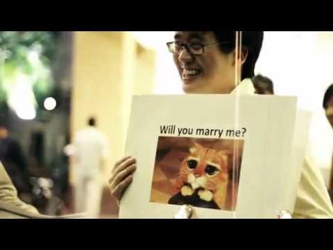 字卡求婚 (中文字幕) 馬男子求婚錄影 全世界女性都想說願意 Tim * Audrey
